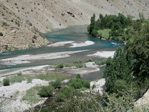 Photo: main River in Astore upstream from confluence with Rupal River