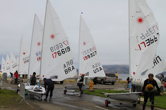 Photo: The rest of the sailors coming to shore - Brazil, USA, Canada, to name a few.