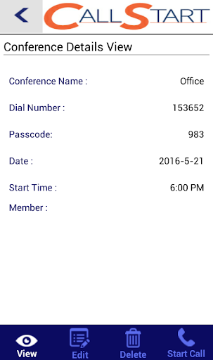 Call Start Quick Conferencing 1.0 screenshots {n} 4