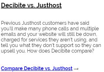 Decibite vs Justhost