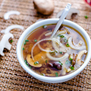 Japanese Onion Soup with Mushrooms.