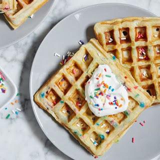 Cake Batter Waffles.