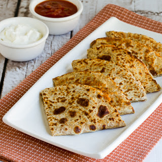 Low-Carb Green Chile Quesadillas with Turkey and Cheese