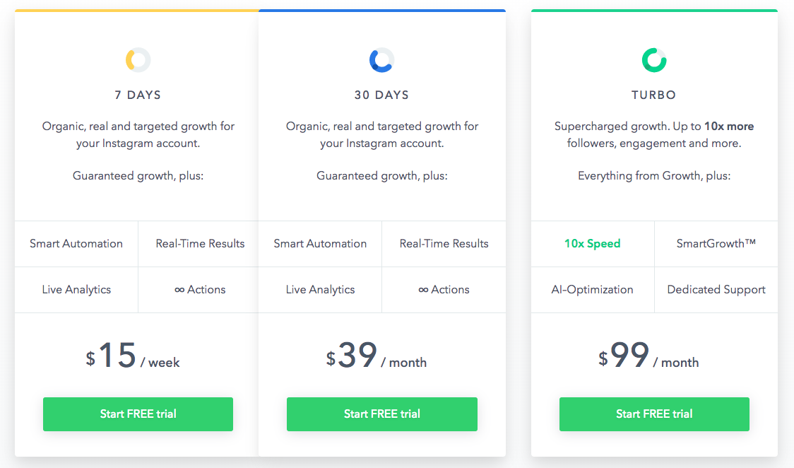 socialcaptain pricing plan