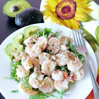 Shrimp Salad with Avocado Ranch Dressing.