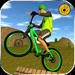 BMX Offroad Bicycle rider Superhero stunts racing Icon
