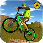 BMX Offroad Bicycle rider Superhero stunts racing