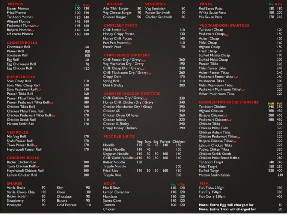 Patiala Zunction menu 2