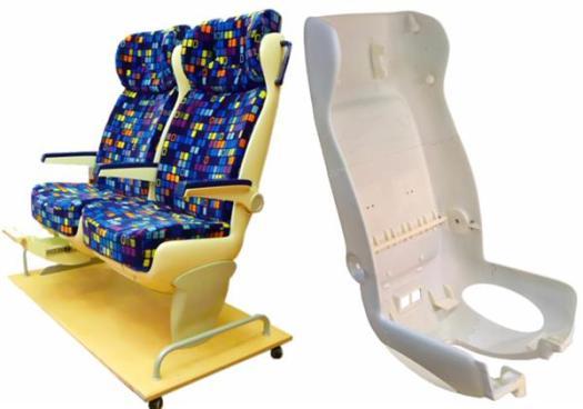 Распечатаные на 3D принтере, сиденья для поезда, помогают POLGAR KFT сэкономить на затратах и времени выполнения