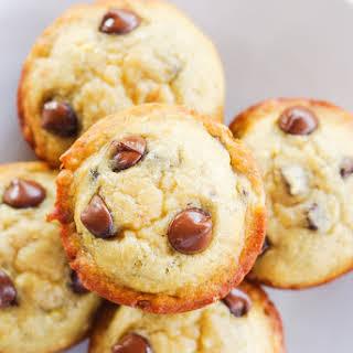 Easy Moist Banana Chocolate Chip Muffins.