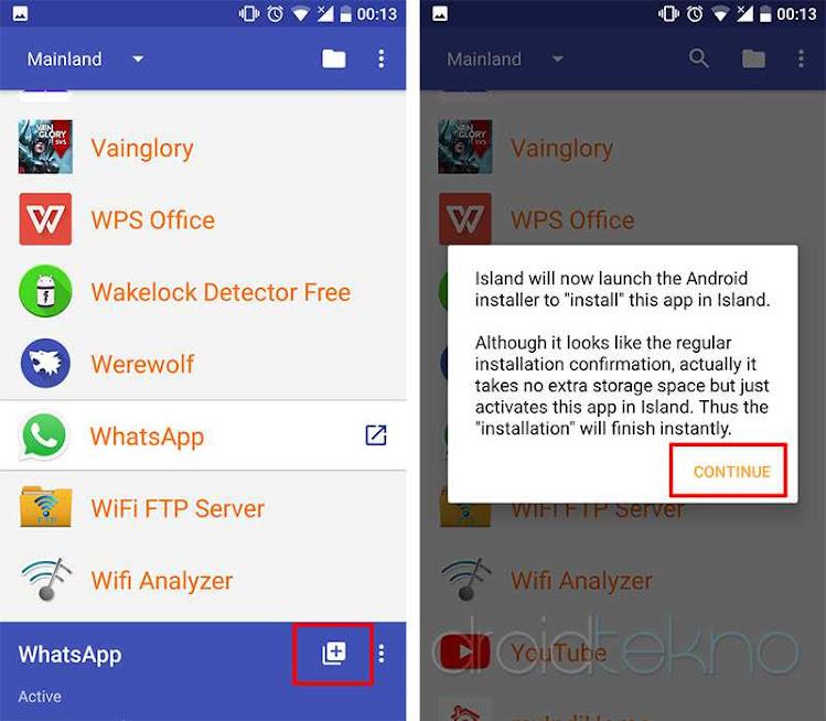 Contoh Cloning/dual Aplikasi Whatsapp