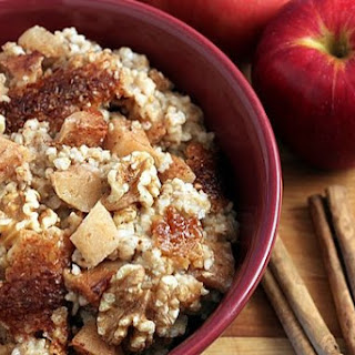 Slow Cooker, Apple Cinnamon Steel-Cut Oatmeal.