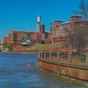 The Columbus River Walk by Thomas Vasas - City,  Street & Park  Vistas ( buildings, travel, landscapes )