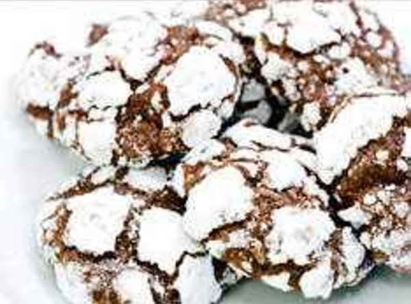 Snow-capped Chocolate Crinkle Cookies