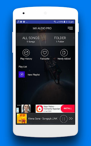 MX Audio Player Pro - Music Player 1.7 screenshots 1