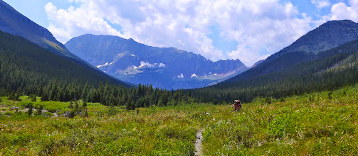 Photo: Red Gap Pass is hidden behind that mountain on the right.