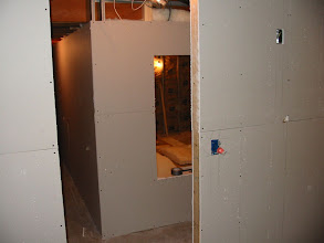 Photo: Outside of the wall drywall goes on today in this area.