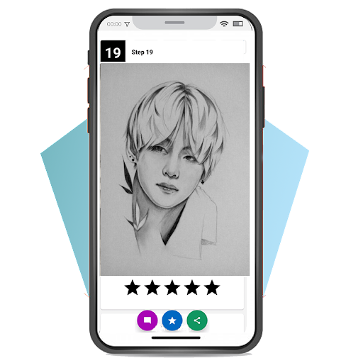 Foto do BTS Drawing