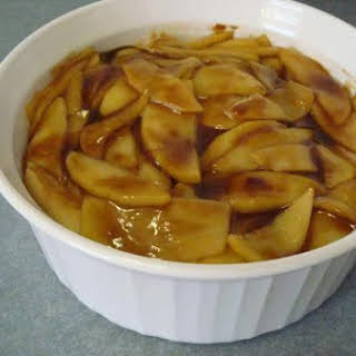Dad's Caramelized Apples With Apricot and Rose Glaze.