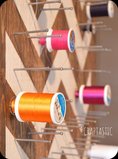 9. Custom DIY Thread Storage