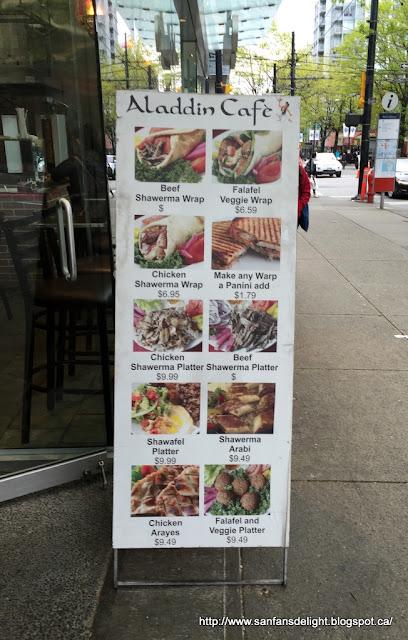 Sanfans Delicious Delights Aladdin Cafe Downtown Vancouver