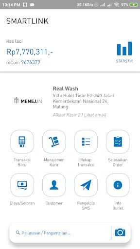 aplikasi kasir laundry - smartlink screenshot 1