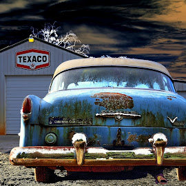 Dodge V-8 by JEFFREY LORBER - Transportation Automobiles ( v-8, jeffrey lorber, cars, rust, rust 'n chrome, dodge, vintage, rusted car, lorberphoto )