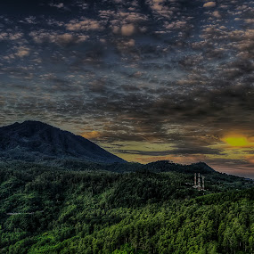 Dancing Cloud with Sunrise by Raden Bagus Paijo - Landscapes Sunsets & Sunrises ( clouds, hills, sky, mountain, sunrise )