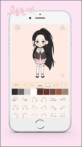 My Webtoon Character - K-pop IDOL avatar maker 1.0.30 screenshots 4