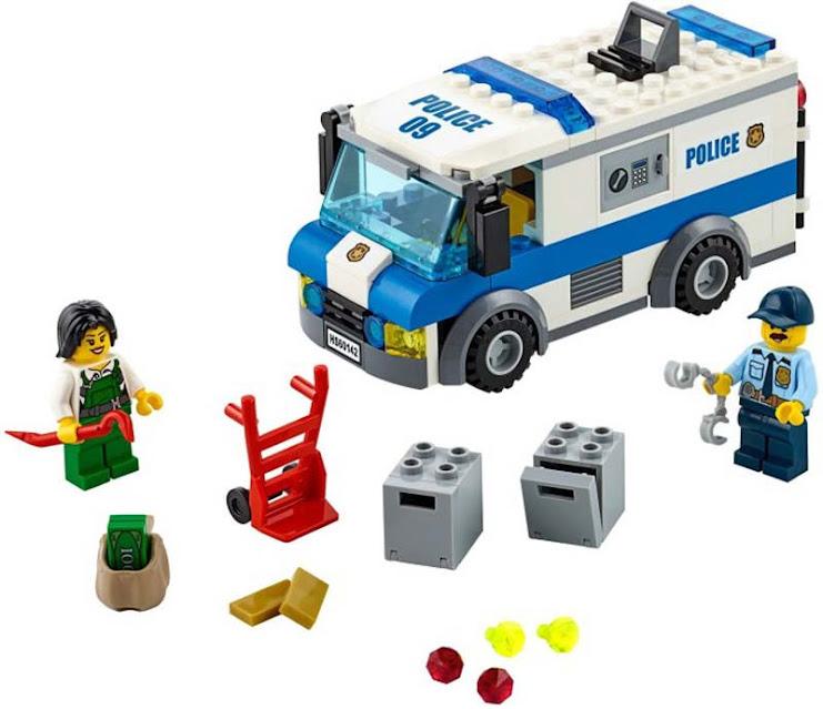 Contenido de Lego® 60142 Transporte de Dinero