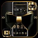 Golden Black Bowknot Theme icon