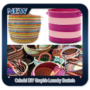Colorful DIY Graphic Laundry Baskets icon