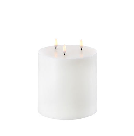 UYUNI Triple Flame LED - Vit - 15,2x18cm