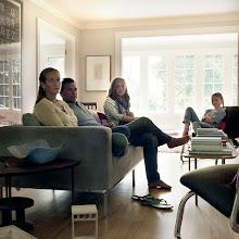 Photo: title: Mark, Aimée, Blakey & Clay Bessire, Portland, Maine date: 2011 relationship: friends, business (art), met through art world Portland years known: 10-15
