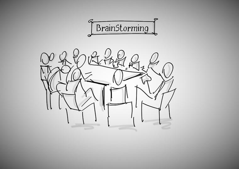 imagem de reunião para tempestade de ideias