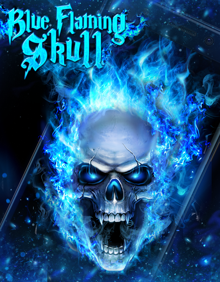 blue fire skull live wallpaper android apps on google play