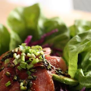 Layered Tuna Sashimi Salad