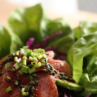 Layered Tuna Sashimi Salad.
