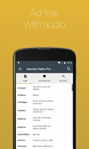 German Verb Conjugator Pro screenshot