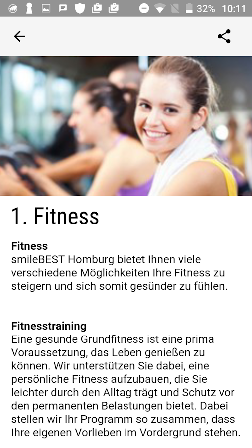 smileBEST Fitness- screenshot