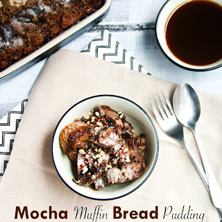 Mocha Muffin Bread Pudding (Paleo and Dairy Free Options)