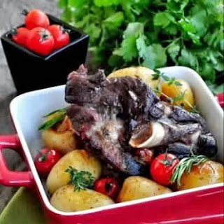 Leg Of Lamb Baked With Lavender And Garlic