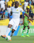 Mamelodi Sundowns captain Hlompho Kekana in action during the CAF Champions League final round qualifying match for the group stages against Rwandan champions Rayon Sports in the capital Kigali on Wednesday March 7 2018 at the Amahoro Stadium. The match ended 0-0.