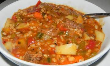 Tuscan Beef and Barley Soup