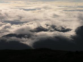 Photo: Clouds below