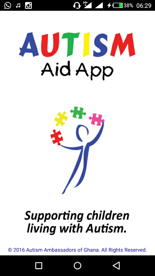 Autism Aid App- screenshot