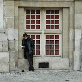 Reader by Dorian Radu - City,  Street & Park  Street Scenes