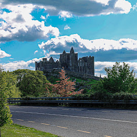 Rock of Cashel  by Raymond Fitzgerald - Buildings & Architecture Other Exteriors ( clouds, rockofcashel green, ireland )
