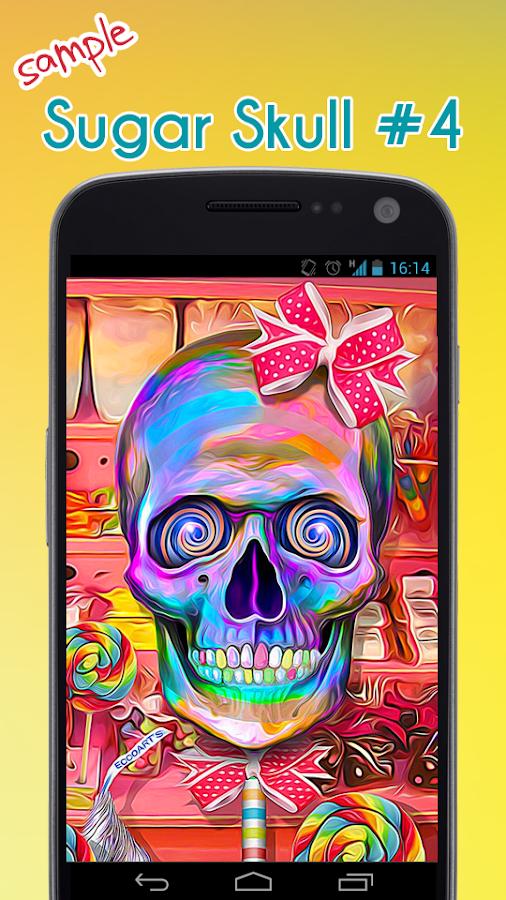 sugar skull wallpaper android apps on google play
