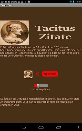Tacitus Zitate - Deutsch